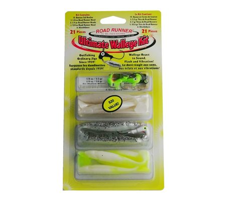 Road Runner Walleye Kit: RRWLHK Walleye Lure and Hook Kit